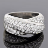 Estate 18kt Criss Cross Pavé Diamond Ring