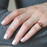 Victorian 18kt Yellow Gold & Pink Tourmaline Ring