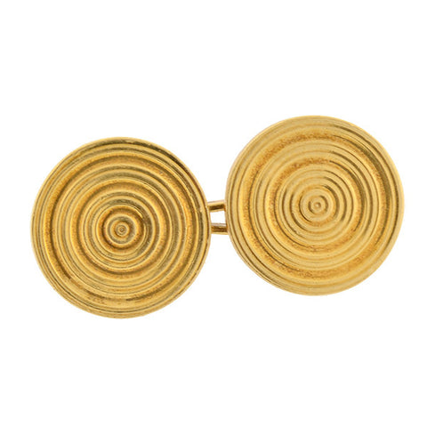 GUBELIN Swiss Late Victorian 18kt Yellow Gold Cufflinks