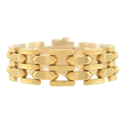 Estate 18kt Gold Flexible Gatelink Bracelet