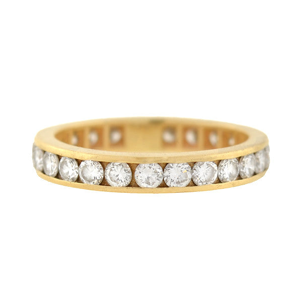 Estate 14kt Yellow Gold Diamond Eternity Band