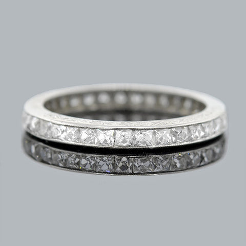 Edwardian Platinum & French Cut Diamond 1.50ctw Band