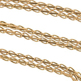 Victorian 14kt Gold Braided Link Chain 27