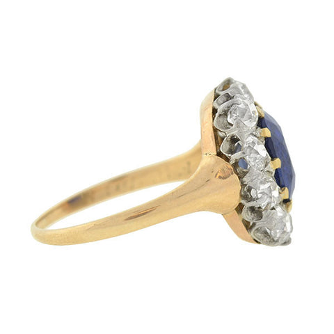 Edwardian 14kt/Platinum Sapphire & Diamond Ring 2.00ct