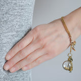 Victorian Gold-Filled Watch Chain + Brass Charm Bracelet