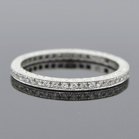 Estate 18kt Diamond Eternity Band 0.32ctw