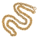 Vintage 14kt Gucci Style Anchor Link Chain Necklace 43.7dwt