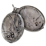 Victorian French Large Sterling Double-Sided Slide Locket Pendant