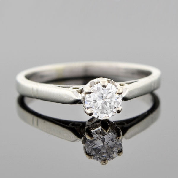 Edwardian 18kt Diamond Engagement Ring 0.36ct