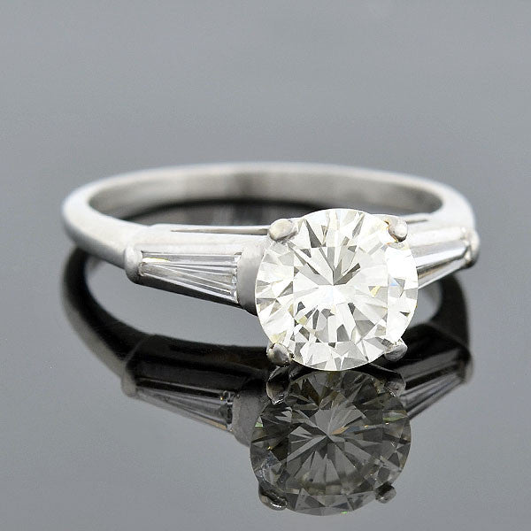 Retro Platinum & Diamond Engagement Ring 1.75ct