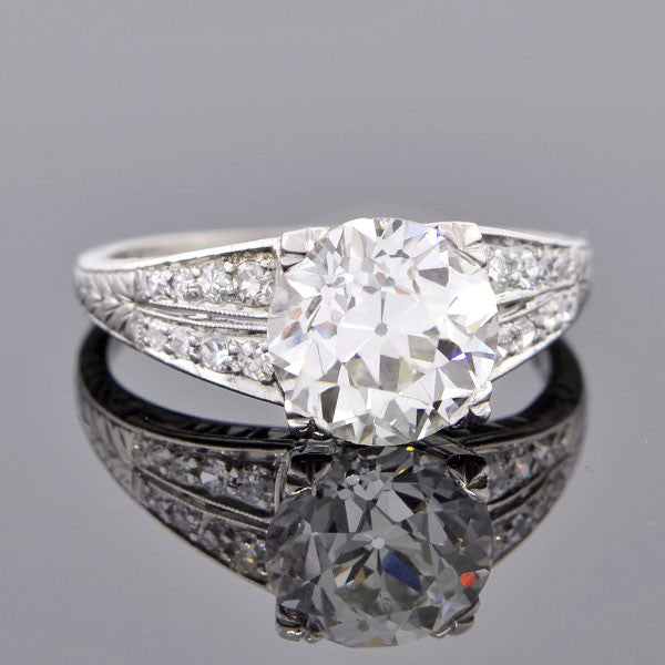 Art Deco Platinum & Diamond Engagement Ring 2.31ct