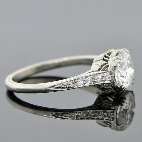 Art Deco Platinum & Diamond Engagement Ring 1.14ct