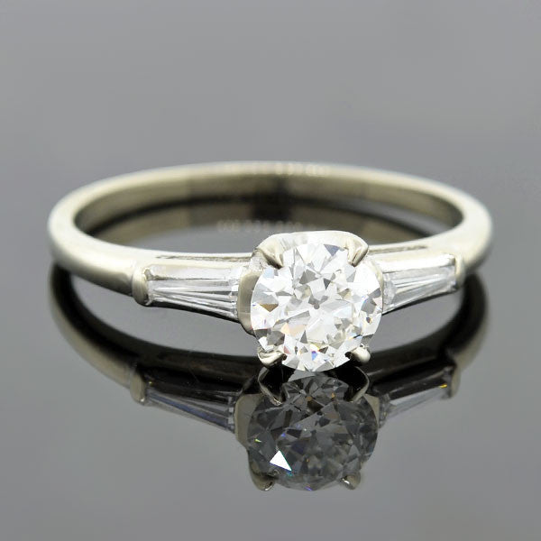 Retro 14kt Diamond Engagement Ring 0.70ct