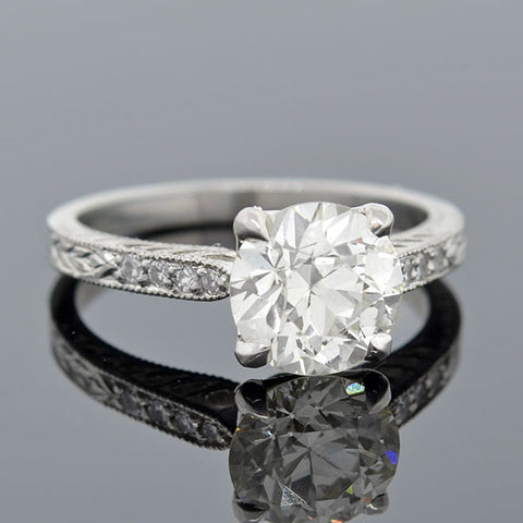 Art Deco Style Platinum & Diamond Engagement Ring 1.95ct