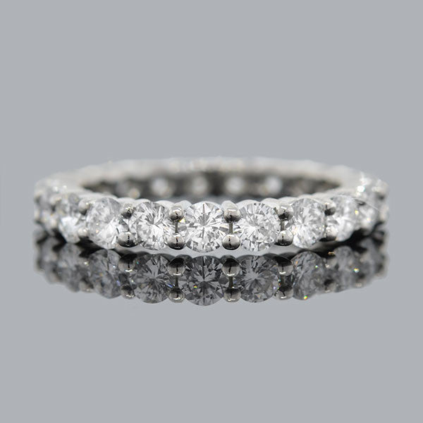 Estate 18K & Diamond Eternity Band 2.50ctw