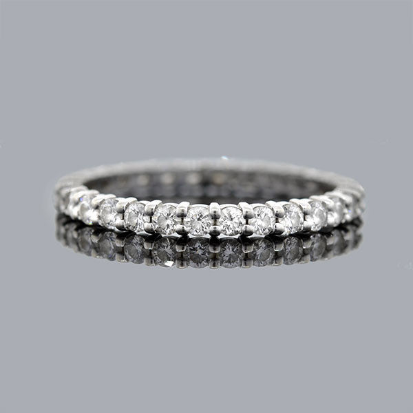 Estate 18kt White Gold & Diamond Eternity Band 1.00ctw