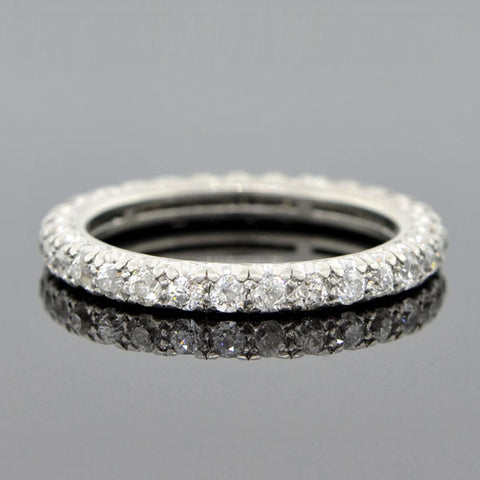 Art Deco Platinum Diamond Eternity Band 1.07ctw