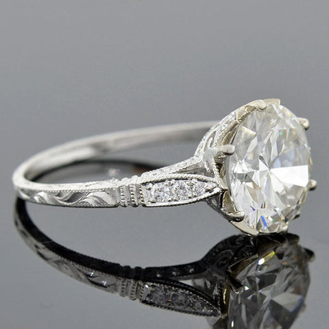 Art Deco Style 18kt Diamond Engage Ring 2.75ct