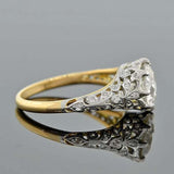 Edwardian 18kt Platinum Diamond Engage Ring 2.22ct