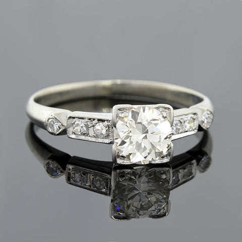 Art Deco 14kt Diamond Engagement Ring 0.73ct
