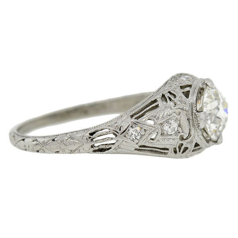 Art Deco Platinum Diamond Engagement Ring 1.00ct