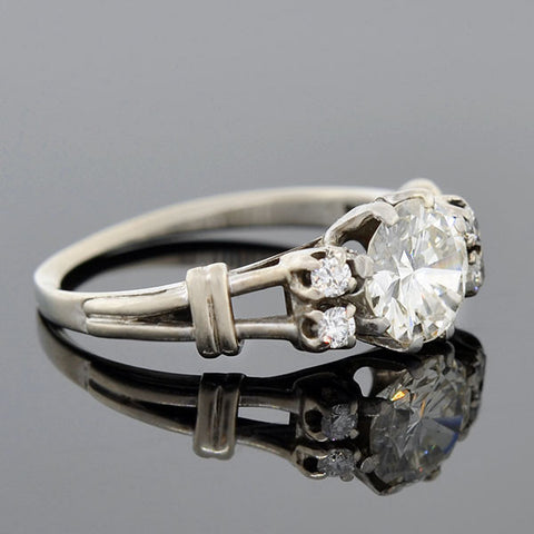 Estate 14kt Diamond Engagement Ring 1.07ct