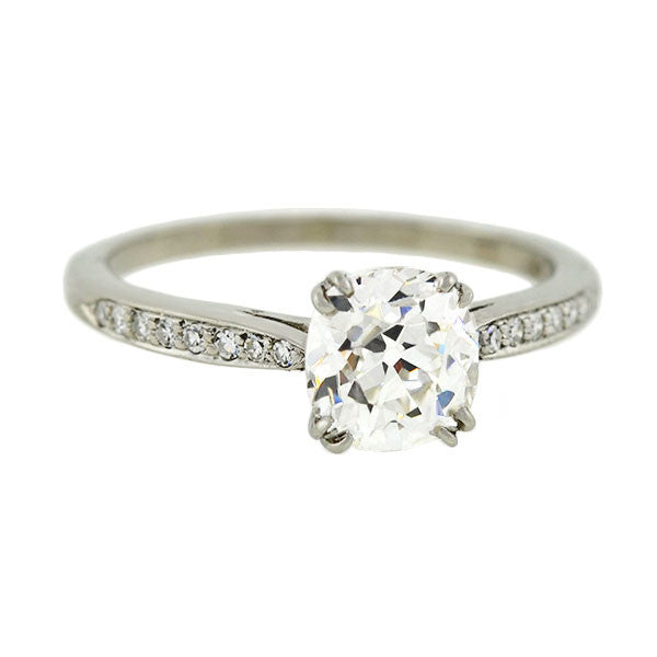 TIFFANY & CO. Platinum Diamond Engagement Ring 1.23ct