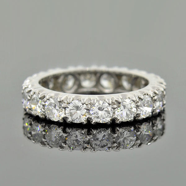 Retro Platinum Diamond Eternity Band 2.75ctw