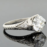 Art Deco Platinum Diamond Engagement Ring 1.89ct