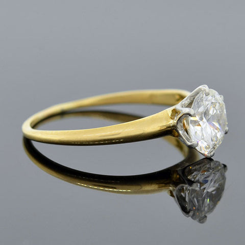 TIFFANY & CO. Art Deco 18kt/Plat. Diamond Solitaire Engagement Ring 1.00ct