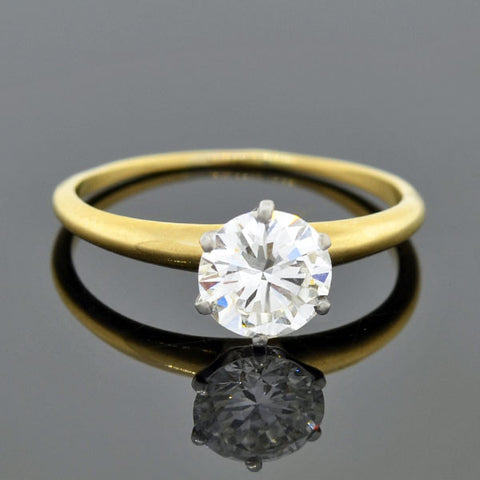 Art Deco 18kt Gold Diamond Engagement Ring .28ct