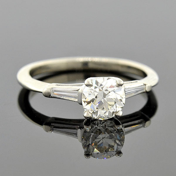 Retro 14kt Diamond Engagement Ring 0.91ct
