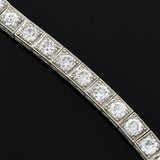 Art Deco Platinum Diamond Line Bracelet 6ctw