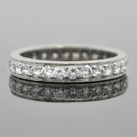 Art Deco Platinum Diamond Eternity Band 1.00ctw