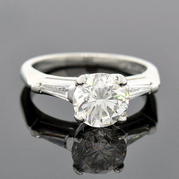 Vintage Platinum Diamond Engagement Ring 2.14ct