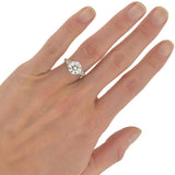 Art Deco Platinum Diamond Engagement Ring 2.75ct
