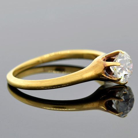 Victorian 18kt Diamond Engagement Ring 0.65ct