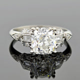 Art Deco 18kt Diamond Engagement Ring 2.15ct