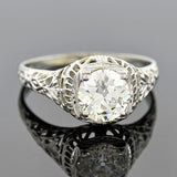 Art Deco 18kt Diamond Engagement Ring 1.55ct