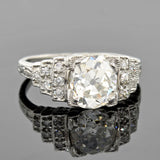 Art Deco Platinum Diamond Engagement Ring 2.16ct