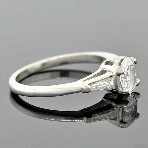 Vintage Platinum Diamond Engagement Ring 0.55ct
