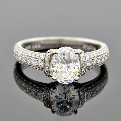 SIMON G Estate 18kt Diamond Engagement Ring 1.00ct