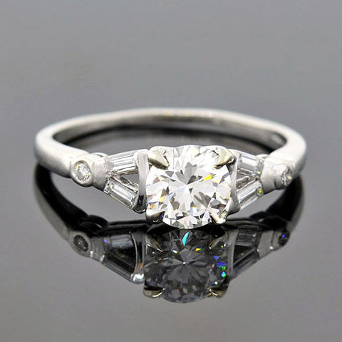 Art Deco 18kt Diamond Engagement Ring .28ct