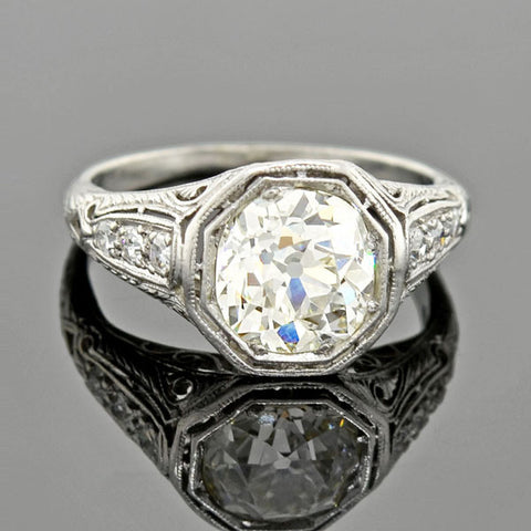 Victorian 18kt BAGUES 5-Stone Diamond Ring 1.60ctw