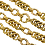 Victorian Fancy 14kt Gold Woven Chain Link Necklace 22