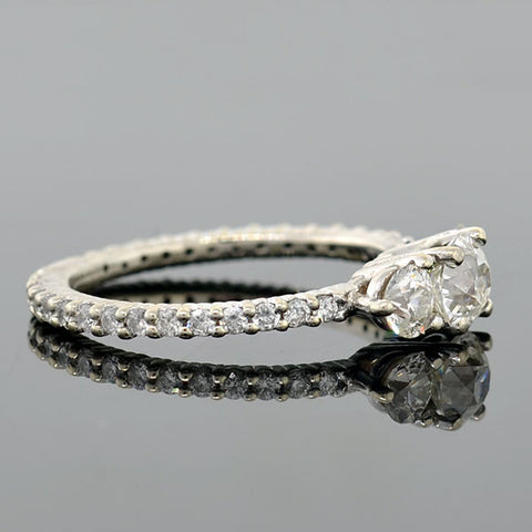Estate 14kt Diamond 3-Stone Trilogy Engagement Ring 1.50ctw