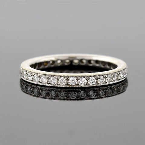 Estate 18kt Pavé Diamond Eternity Band 0.70ctw