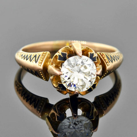 Estate 14kt 3-Stone Diamond Engage Ring 1.57ctw