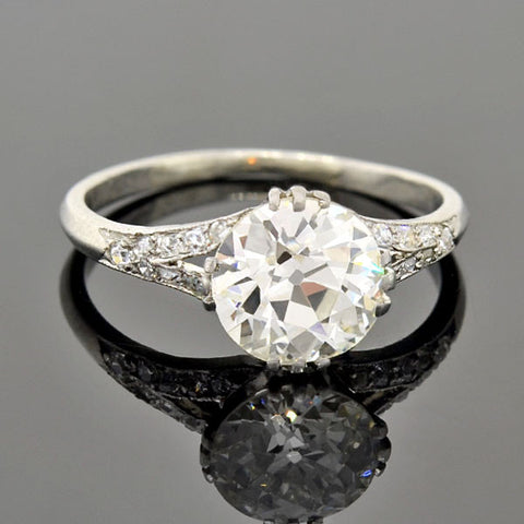 Art Deco Platinum Diamond Engagement Ring 2.05ct