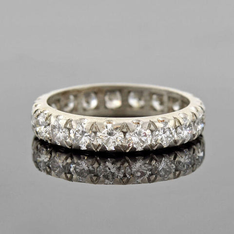 Retro Platinum Diamond Eternity Band 2.50ctw